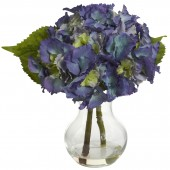Blooming Hydrangea w/Vase Arrangement - Blue