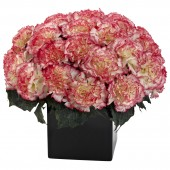Carnation Arrangement w/Vase - Cream Pink