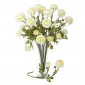 "23"" Ranunculus Stem (Set of 12) - White"