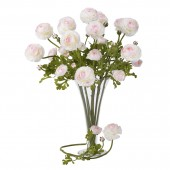 "23"" Ranunculus Stem (Set of 12) - White/Pink"