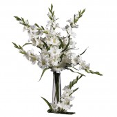"36"" Gladiola Stem (Set of 12) - White"
