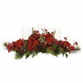Hydrangea Holiday Candelabrum - Red/Green