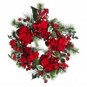"22"" Hydrangea Holiday Wreath - Holiday"