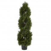 Double Pond Cypress Spiral Topiary UV Resistant w/1036 Leaves (Indoor/Outdoor)